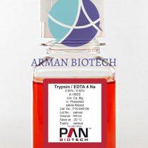 تریپسین 0/05% EDTA در حجم 100ml محصول PAN Biotech آلمان